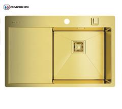 Кухонная мойка из нержавеющей стали OMOIKIRI Akisame 78-LG-R (4993086)