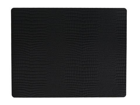 Подстановочная салфетка прямоугольная 35x45 см LindDNA Croco black 98326