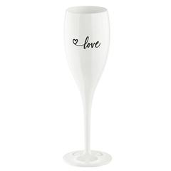 Бокал для шампанского с надписью LOVE 2.0, белый Koziol 3439525