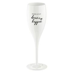 Бокал для шампанского с надписью MAKE YOUR DREAMS HAPPEN, белый Koziol 3441525