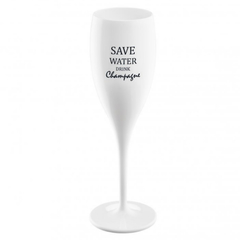 Бокал для шампанского с надписью SAVE WATER DRINK CHAMPAGNE, белый Koziol 3436525