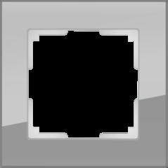 Рамка на 1 пост (серый,стекло) WL01-Frame-01 Werkel