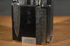 Комплект из 5 ножей Samura METEORA и черной подставки