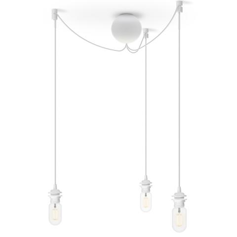 Потолочная чаша на 3 плафона Cannonball White E27-15W LED, длина провода 2,5м, для всех Vita  ламп VITA copenhagen  4090