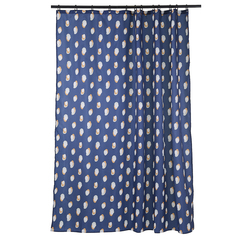 Штора для ванной темно-синего цвета с принтом Sun Spots  из коллекции Wild, 180х200 см Tkano TK20-SC0001