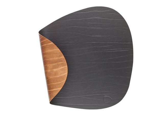 Подстановочная салфетка фигурная 37x44 см LindDNA Double Buffalo black/nature 982191