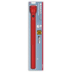 Фонарь MAGLITE, 6D, красный, 49,5 см, в блистере S6D036E