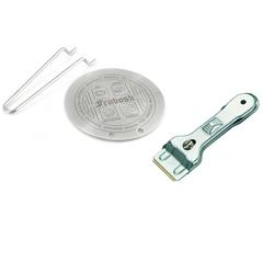Комплект из диска для индукционной плиты 14см Frabosk и скребка для чистки плиты Westmark
