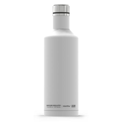 Термос-бутылка Asobu Times square (0,45 литра) белая*