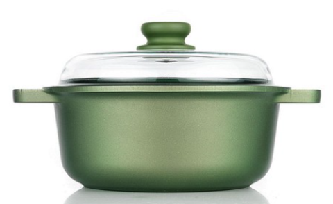 Кастрюля со стеклянной крышкой Risoli Dr Green Induction 24см (3,5л) 00097DRIN/24