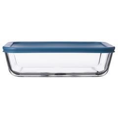 Контейнер для еды Smart Solutions стеклянный 1400 мл темно-синий JV1400RC