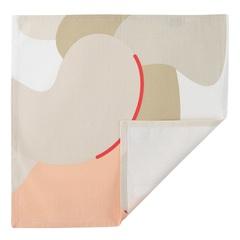Салфетка сервировочная из хлопка бежевого цвета с авторским принтом из коллекции Freak Fruit, 45х45 см Tkano TK20-NA0009
