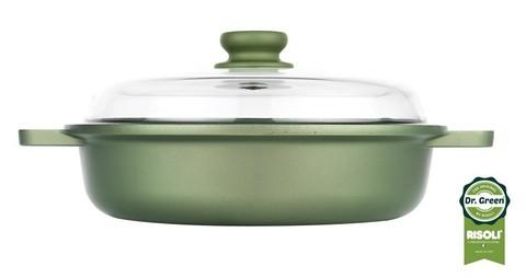 Сотейник со стеклянной крышкой Risoli Dr Green Induction 28см 00099DRIN/28