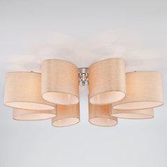 Потолочная люстра с овальными абажурами Eurosvet Elipse 60083/8 хром