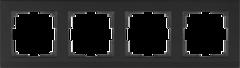 Рамка на 4 поста (черный) WL04-Frame-04-black Werkel