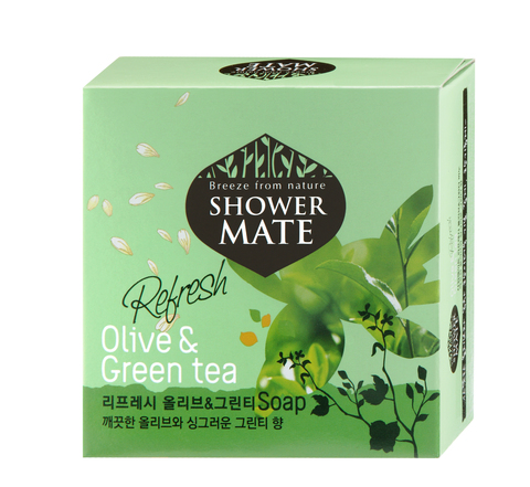 Мыло косметическое Shower Mate Оливки и зеленый чай 100г 988084