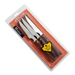 Набор столовых ножей для стейка ARCOS 110 мм, 6 шт., рукоять прессованное дерево, блистер арт. 372000