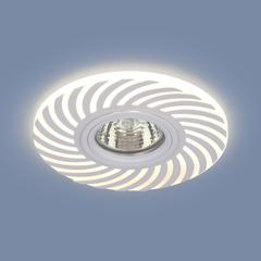 Встраиваемый точечный светильник с LED подсветкой 2215 MR16 WH белый Elektrostandard