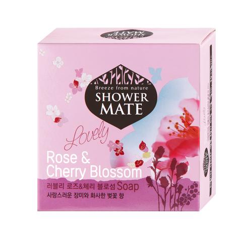 Мыло косметическое Shower Mate Роза и вишневый цвет 100г 988077