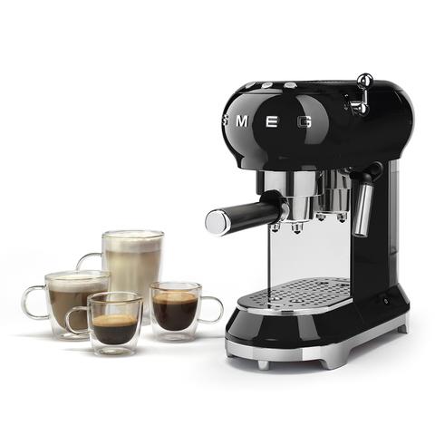 Кофемашина-эспрессо Smeg (Черный) ECF01BLEU