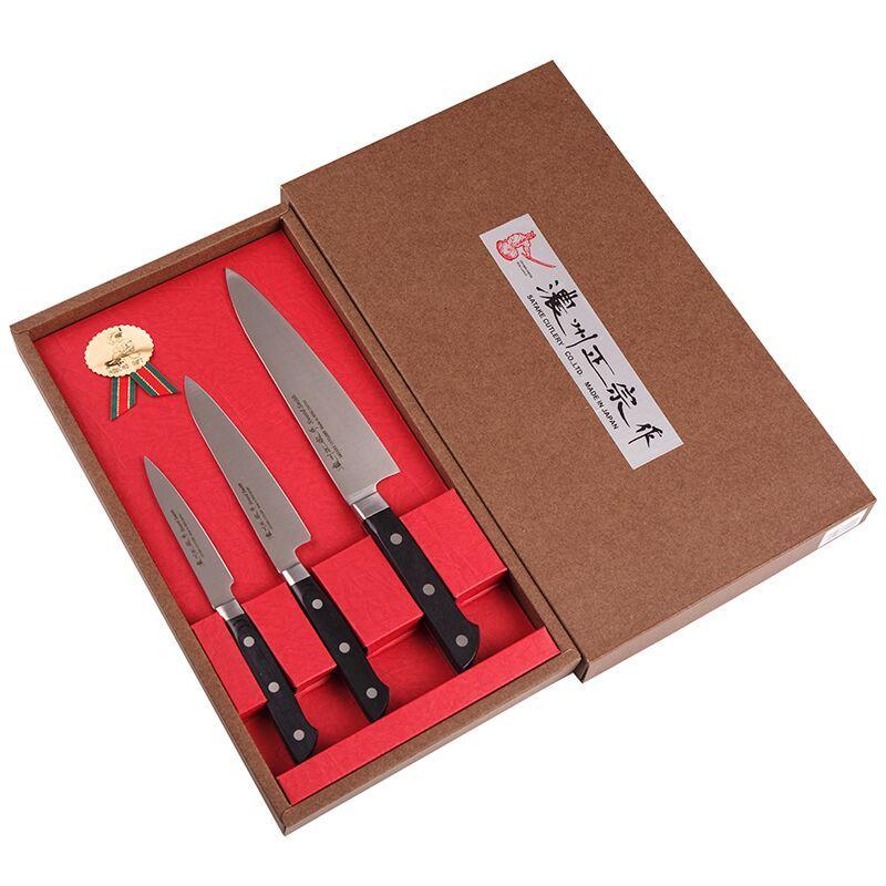Набор из 3 кухонных ножей SATAKE Stainless Bolster HG8266