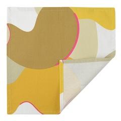 Салфетка сервировочная из хлопка горчичного цвета с авторским принтом из коллекции Freak Fruit, 45х45 см Tkano TK20-NA0010