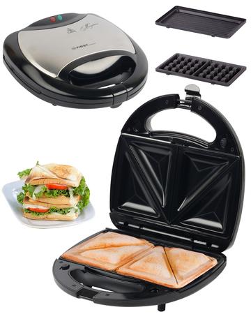 Сэндвичница 3 в 1 FIRST FA-5342 Black