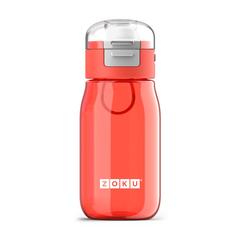 Бутылочка детская с крышкой 475 мл красная Zoku ZK202-RD
