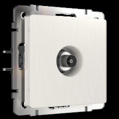 ТВ-розетка оконечная  (перламутровый рифленый) WL13-TV Werkel