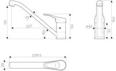 Смеситель для кухни OMOIKIRI Kado-C (4994122)