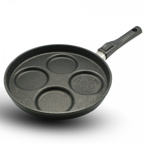 Сковорода литая для яичницы и оладий 26см BAF Giant Newline со съемной ручкой 500108260