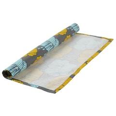 Салфетка сервировочная из хлопка серого цвета с принтом Цветы из коллекции Prairie, 45х45 см Tkano TK20-NA0007