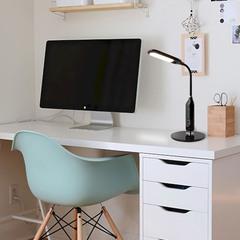 Светодиодная настольная лампа с диммером Eurosvet Soft 80503/1 черный