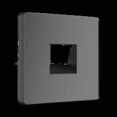 Накладка для телефонной розетки RJ11 (графит рифленый) WL04-RJ-11-CP Werkel