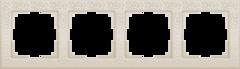 Рамка на 4 поста (слоновая кость) WL05-Frame-04-ivory Werkel