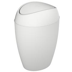 Корзина для мусора с крышкой Twirla 9 л белая Umbra 1012978-661