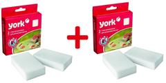 Комплект из 4 меламиновых губок для деликатной очистки York