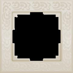 Рамка на 1 пост (слоновая кость) WL05-Frame-01-ivory Werkel