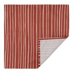 Салфетка сервировочная из хлопка терракотового цвета с принтом Полоски из коллекции Prairie, 45х45 см Tkano TK20-NA0006
