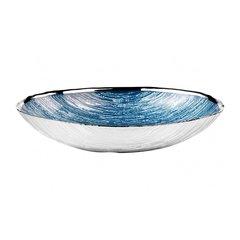 Тарелка овальная средняя Granito Sky Blue 24x16 Argenesi 1.752931