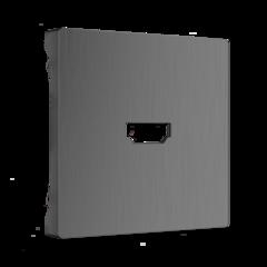 Накладка для розетки HDMI (графит рифленый) WL04-HDMI-CP Werkel