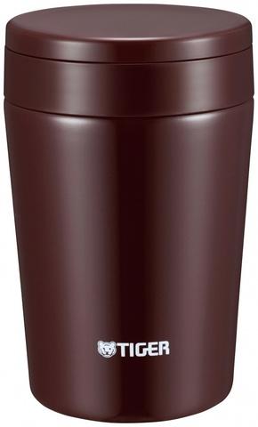 Термос для еды Tiger MCL-A038 Chocolate Brown (0,38 л), шоколадный