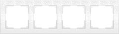 Рамка на 4 поста (белый) WL05-Frame-04-white Werkel