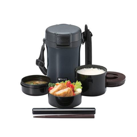 Термос для еды с контейнерами Tiger LWU-A171 (1,41 л), темно-серый LWU-A171 HD