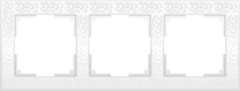 Рамка на 3 поста (белый) WL05-Frame-03-white Werkel