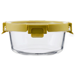 Контейнер для еды Smart Solutions стеклянный 650 мл желтый ID650RD_127C