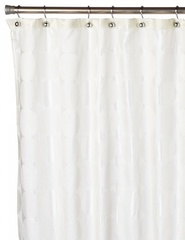 Шторка для ванной Carnation Home Fashions Jacquard Ivory Circle FSCJAC/08