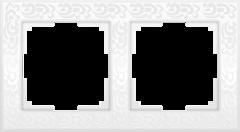 Рамка на 2 поста (белый) WL05-Frame-02-white Werkel