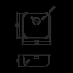 Кухонная мойка из нержавеющей стали OMOIKIRI Omi 44-IN (4993189)