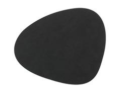 Подстановочная салфетка фигурная 37x44 см LindDNA Nupo black 981900